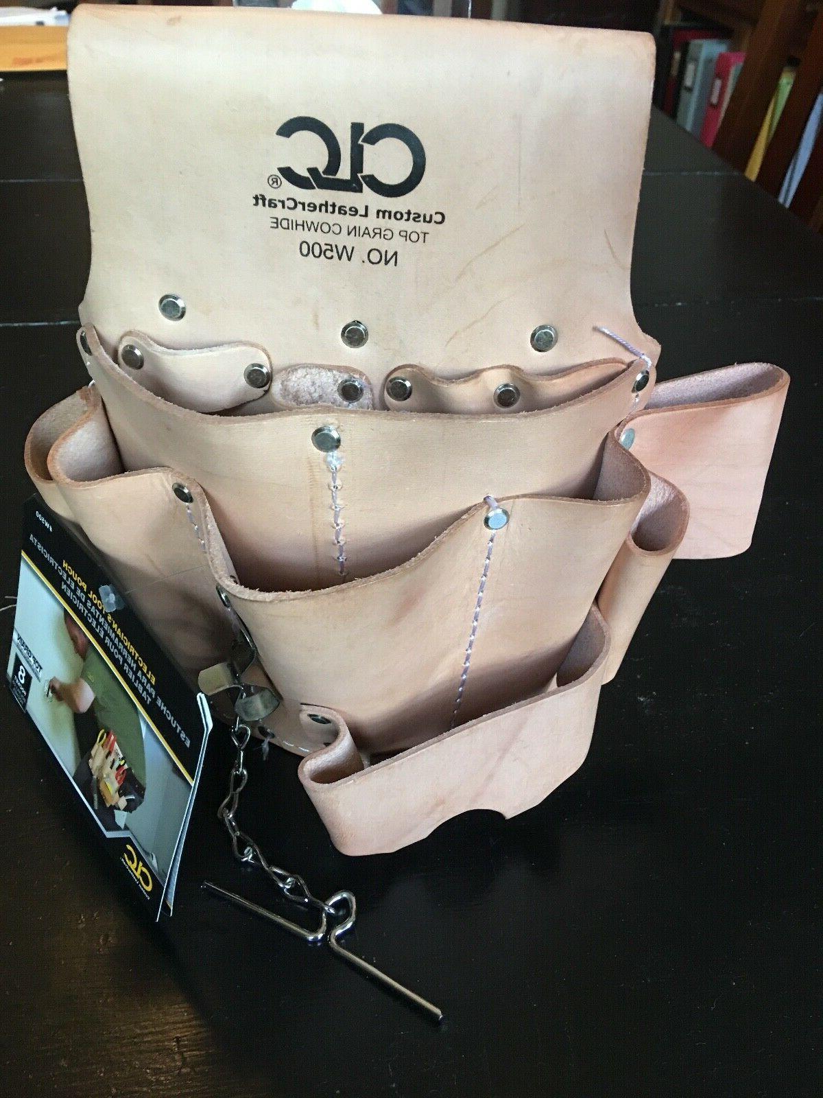 custom leathercraft w500 electrician s tool pouch