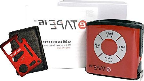 eTape16 Digital Tape and & Zonoz 11 1 Mini Pocket Multi-Z-Tool