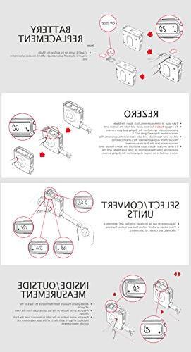eTape16 Measure, 16', Red, Inch and Metric 11 in Multipurpose Mini Pocket