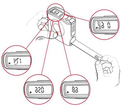 eTape16 ET16.75-DB-RP Digital Tape Measure, Red, and Metric Mini Portable Wallet Pocket