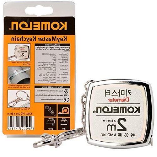 Komelon KeyMaster Mini Tape Measure KMC-14C Steel Pocket 2M Measuring Key Chain