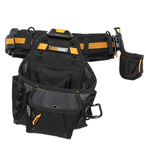 ToughBuilt Shoulder Strap, Holder, Adjustable Tool Pockets, Pockets Loops, Tape