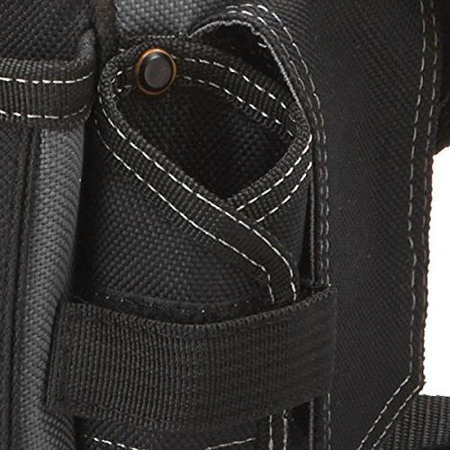 ToughBuilt Pouch Shoulder Strap, Flashlight Holder, Adjustable Pockets, Pockets Loops, Tape Clip