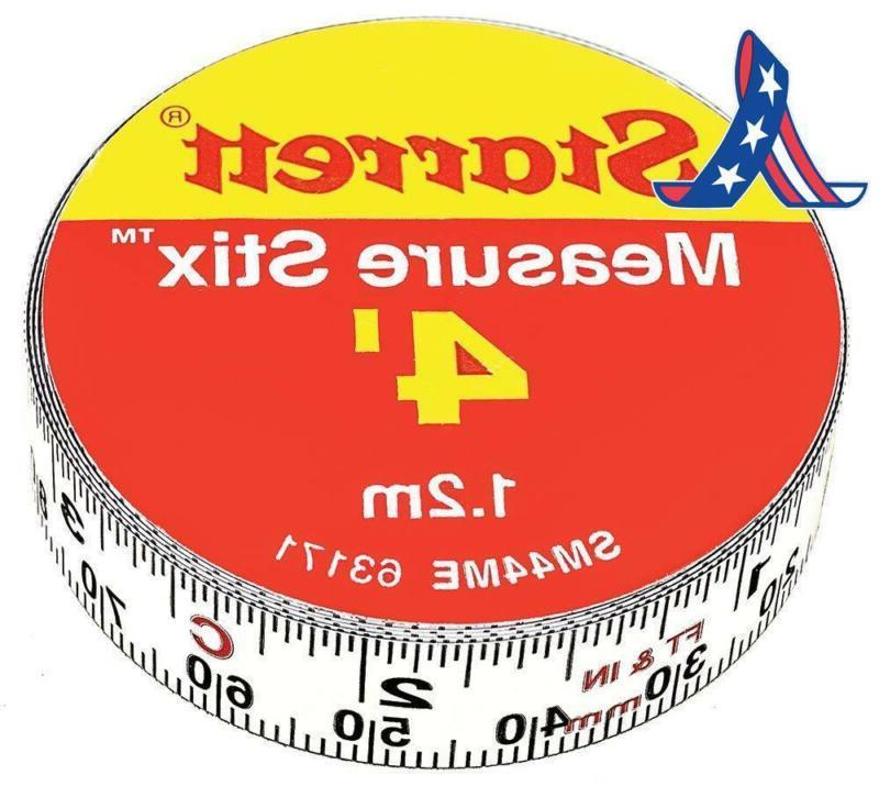 measure stix sm44me steel white measure tape