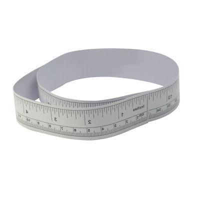 Metallic Machine Sticker Self Measure Tape Rulers
