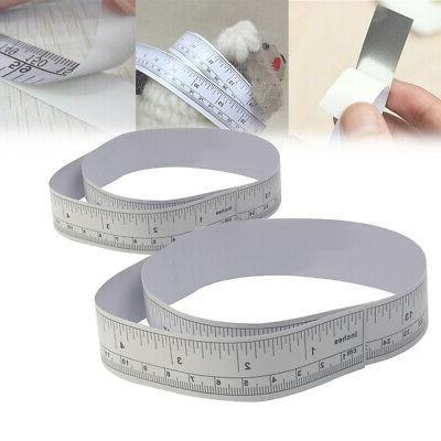 metallic stick measures sewing machine sticker self