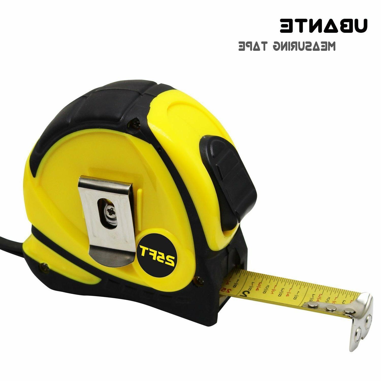 NEW UBANTE Yellow Measuring Tape Measure 25-Foot Retractable Heavy