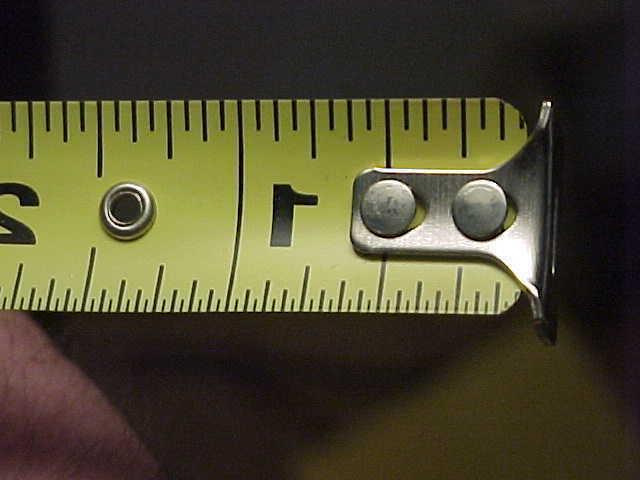 """NOS C34-12 12' x 3/4"""" Yellow Metal Tape"""