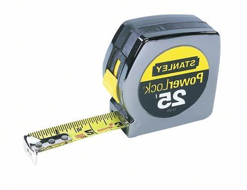 """Powerlock II Rule, 1"""" 25ft, Chrome/Yellow"""