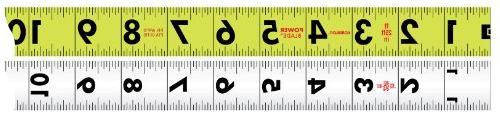"Komelon 52416; 1.06"" Measure, ABS"
