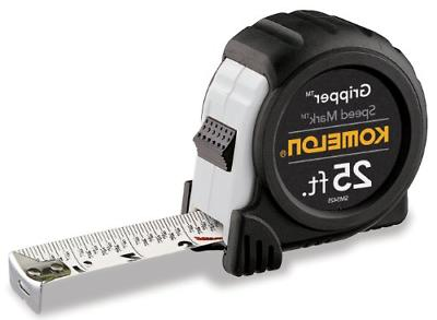 Speed Mark Gripper Acrylic Coated Steel Blade Measuring Tape White