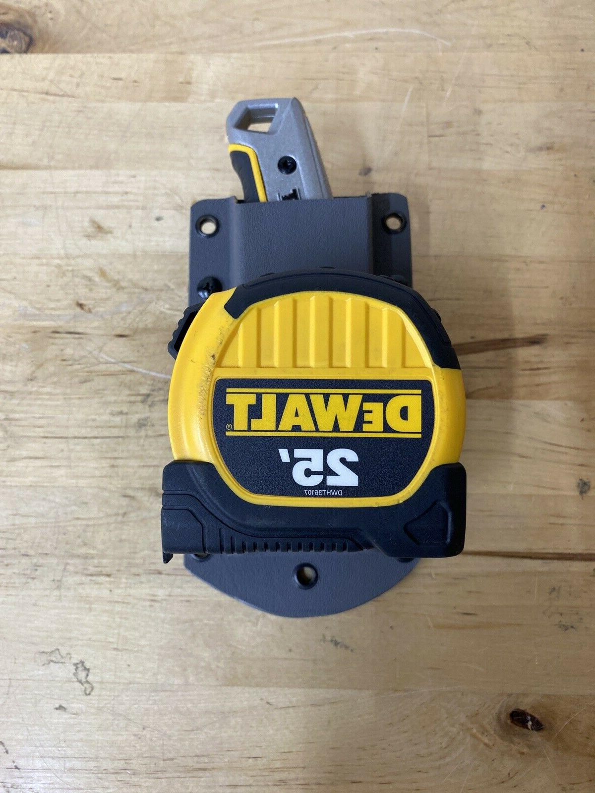 tape measure holder and dewalt cordless drill