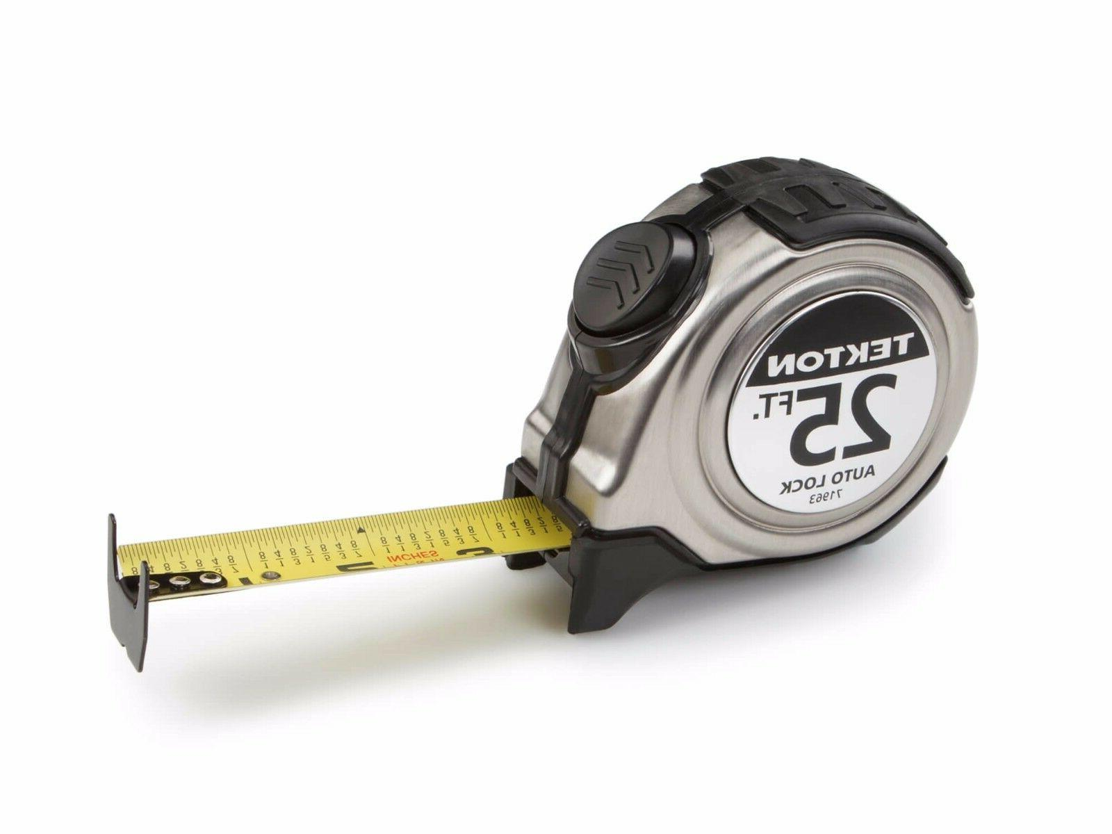 TEKTON 71963 - 25 ft. x 1 in. Auto Lock Tape Measure  FREE S