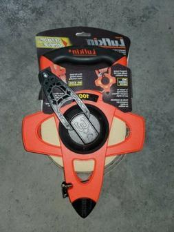 Lufkin L1706N Reel Rewind Tape Measure, 100', Orange