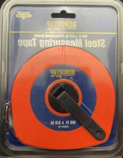 """Benchtop Pro Linear Measuring Tape 3/8"""" x 100ft Yellow Ste"""