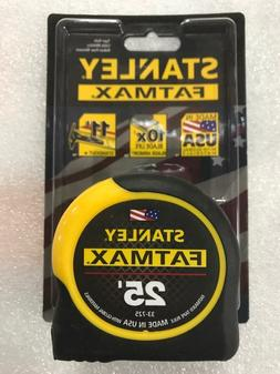 1 - 25' Stanley Fatmax Tape Measure # 33-725