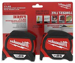 MLW48-22-7125G Magnetic Tape Measure Bogo Pack, 25'
