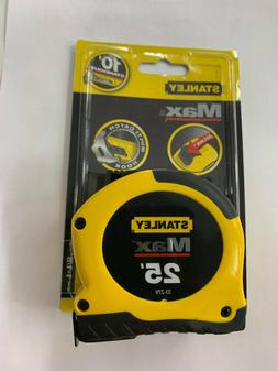 Stanley Tools Max Tape Rule, 1 1/8 x 25ft, Steel