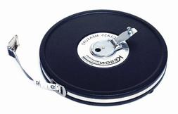 KESON MC-10-100 Long Tape Measure, 1/2 In x 100 ft, Black