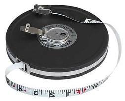 KESON MC-18-100 Long Tape Measure, 1/2 In x 100 ft, Black