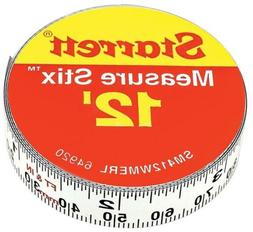 Starrett Measure Stix SM412WMERL Steel White Tape with Adhes