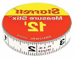 Starrett Measure Stix SM412WRL Steel Adhesive Backing White