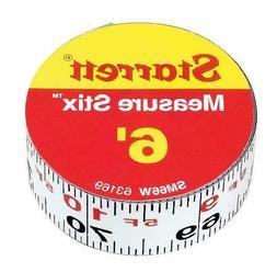 Starrett Measure Stix Sm66W Steel White Measure Tape With Ad