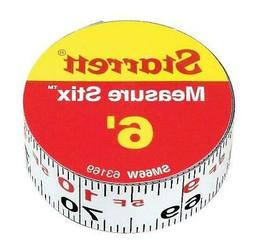 Starrett Measure Stix SM66W Steel White Measure Tape with Ad