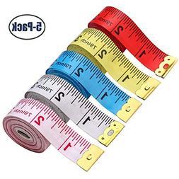 BUSHIBU 5 Piece Body Measuring Ruler Sewing Tailor Tape Meas