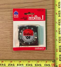 "Lufkin Mezurall Measuring Tape 10 ft Chrome Plated 1/2"" Yell"
