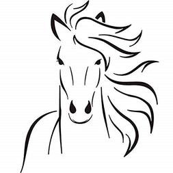 Boodecal Mustang Horse Silhouette Wall Decal Mural Decor For