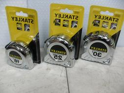 NEW STANLEY 16', 25', OR 30' CHROME TAPE MEASURE~ FRACTIONAL