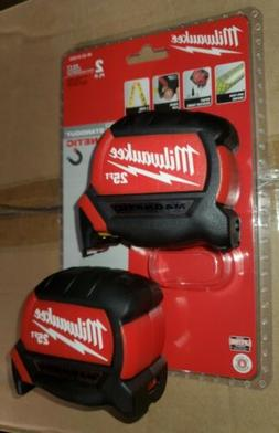 NEW Milwaukee 25' Tape Measure, Magnetic, 12' Standout, 2 Si