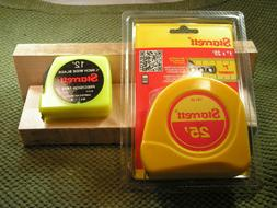 New Starrett 25' Tape Measure with New Starrett 12' Tape