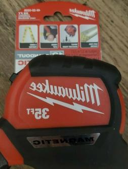 NEW Milwaukee 35ft Magnetic Tape Measure with 12' Standout #