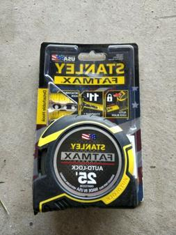 NEW STANLEY FATMAX 25' TAPE MEASURE 1-1/4 Inch Auto Lock