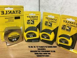NEW STANLEY TAPE MEASURE 12',16', OR 25' LEVERLOCK OR 25' PO
