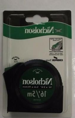 "Nicholson N35CME 16' x 3/4"" Toggle Lock Tape Measure SAE & M"