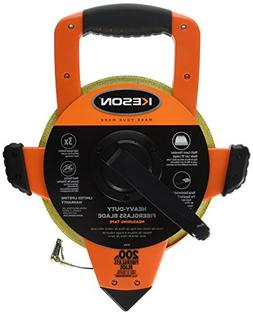 Keson OTRS1810200 Fiberglass Measuring Tape with Double Hook