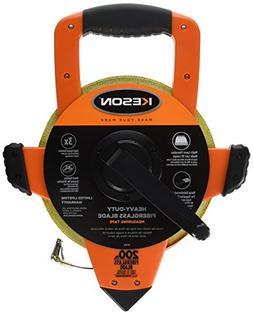 Keson OTRS1810200 Fiberglass Measuring Tape with Double Hook