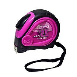The Original Pink Box PB25LTM Auto Locking Tape Measure, 25F