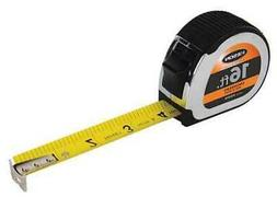 "KESON PG1016 16 ft. Tape Measure, 1"" Blade, Chrome/Black"
