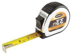 KESON PG181033 Tape Measure, 1 In x 33 ft, Chrome/Black