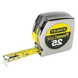 "Powerlock II Power Return Rule, 1"" x 25ft, Chrome/Yellow"