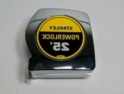 Stanley PowerLock Tape Measure 25 Ft. x 1 In. Durable Tool B