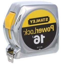 Stanley Tools Powerlock Tape Rule, 3/4 x 16ft, Plastic Case,
