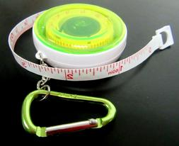 "Retractable Carabiner Clip TAPE MEASURE 60"" Locking -   Grea"