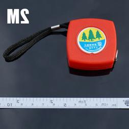 2m Mini Practical Red Retractable Metric Measuring Diameter
