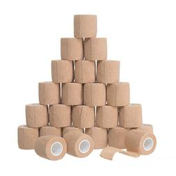 Self Adhesive Bandage Rolls 24pk Strong Elastic Adherent Fir