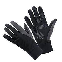 OZERO Touch Screen Gloves for Men, Winter Warm Bike Glove fo